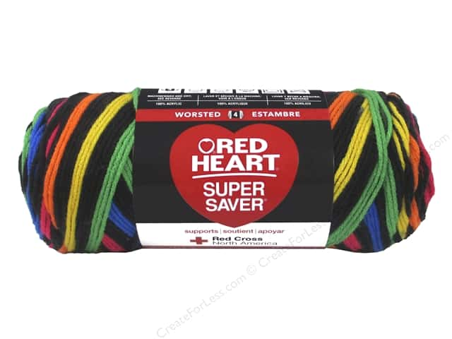 Red Heart Super Saver Yarn #3954 Primary Stripes 236 yd.