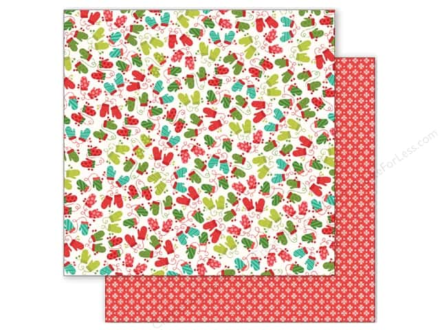 Pebbles 12 x 12 in. Paper Holly Jolly Mittens (25 sheets)