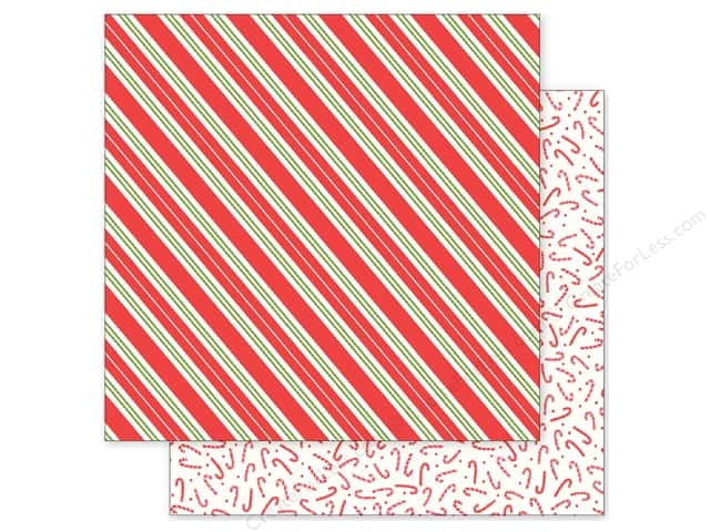 Pebbles 12 x 12 in. Paper Holly Jolly Candy Stripes (25 sheets)