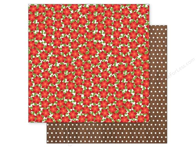 Pebbles 12 x 12 in. Paper Holly Jolly Poinsettias (25 sheets)