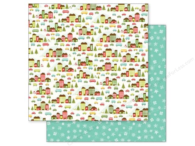 Pebbles 12 x 12 in. Paper Holly Jolly Holiday Village (25 sheets)
