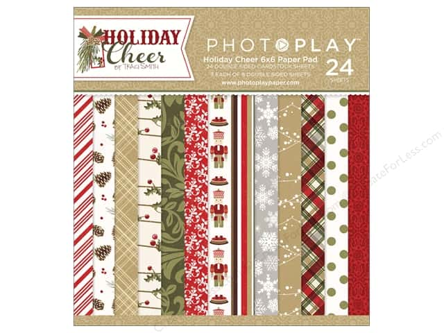 """Photo Play Collection Holiday Cheer Paper Pad 6""""x 6"""""""