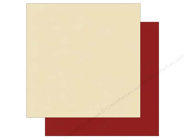 "Photo Play Collection Holiday Cheer Paper 12""x 12"" Dark Red/Cream (25 sheets)"