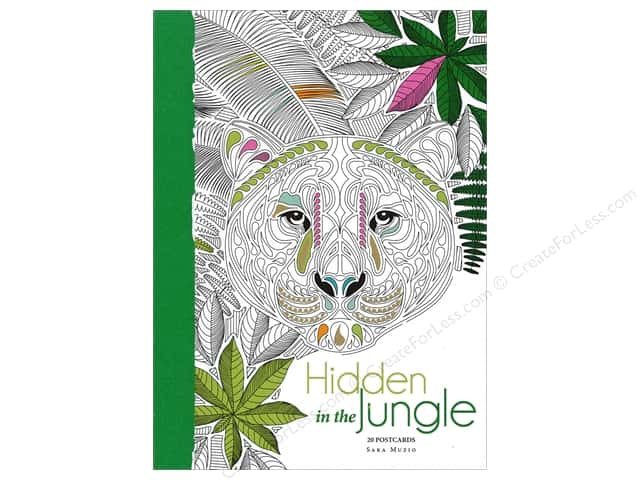 Lark Hidden In The Jungle Coloring Postcards 20pc