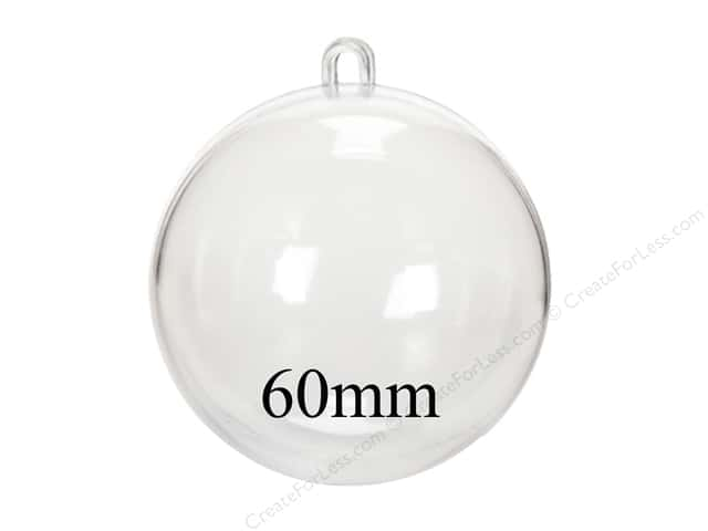 Darice Fillable Shape Plastic Ball 60mm