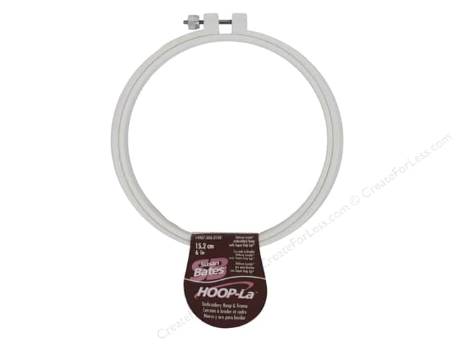 Susan Bates Hoop-La Embroidery Hoops 6 in. 1 pc. White