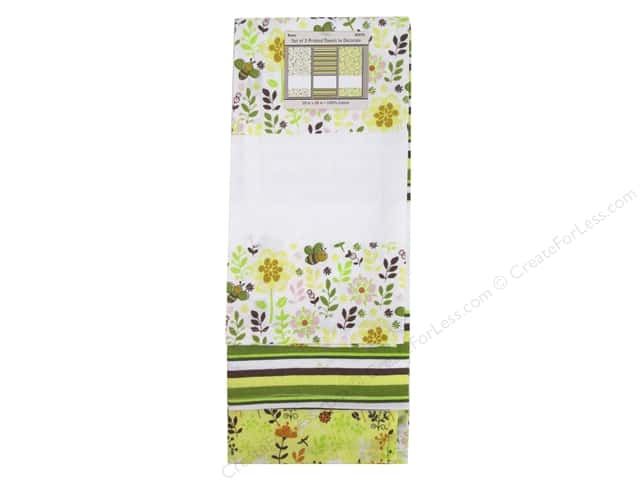 "Design Works Towel 18""x 28"" Printed Bees Trio"
