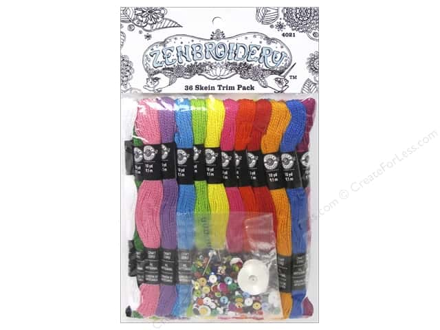 Design Works Zenbroidery Trim Pack Cord 36 Skein