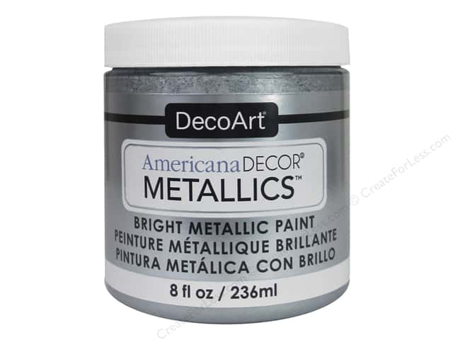 DecoArt Americana Decor Metallics 8 oz. Silver