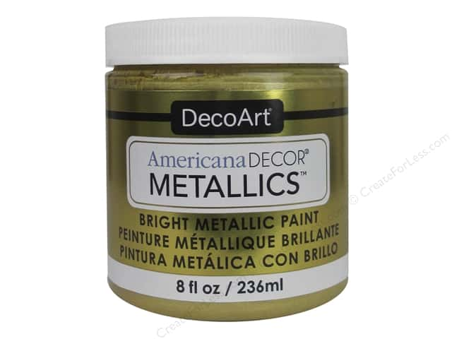 DecoArt Americana Decor Metallics 8 oz. Soft Gold