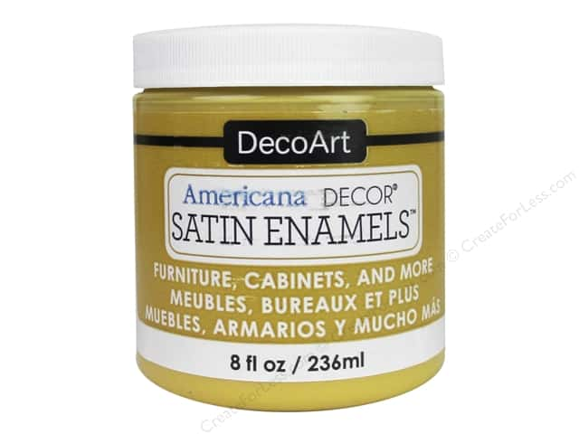 DecoArt Americana Decor Satin Enamel Paint 8 oz. Honey Gold