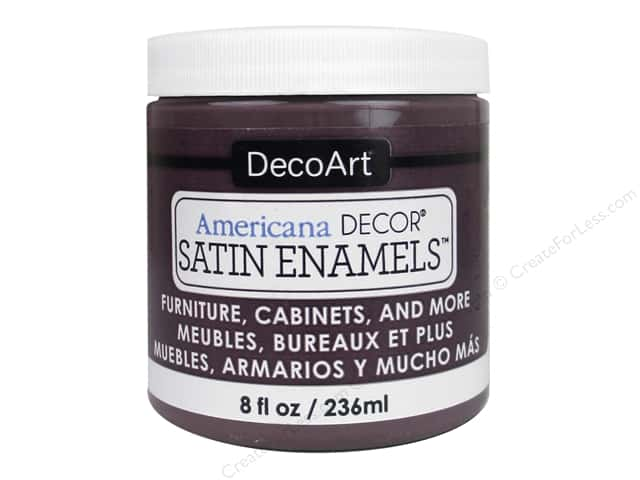 DecoArt Americana Decor Satin Enamel Paint 8 oz. Aubergine