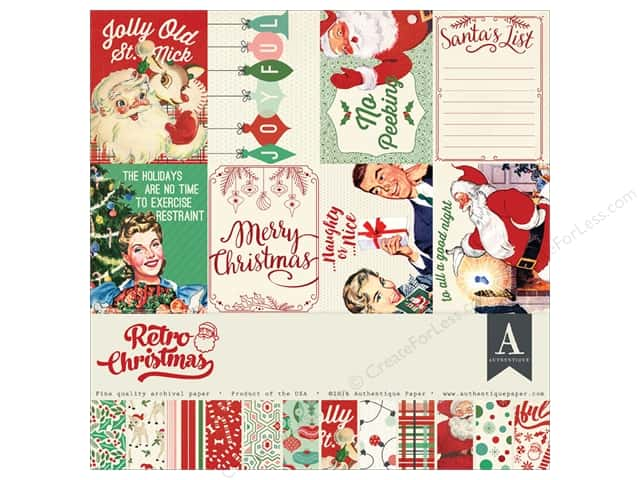 Authentique 12 x 12 in. Collection Kit Retro Christmas