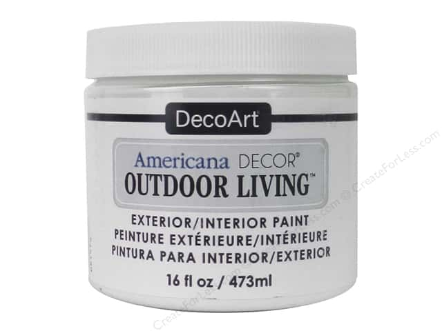 DecoArt Americana Decor Outdoor Living Exterior/Interior Paint 16 oz. Picket Fence