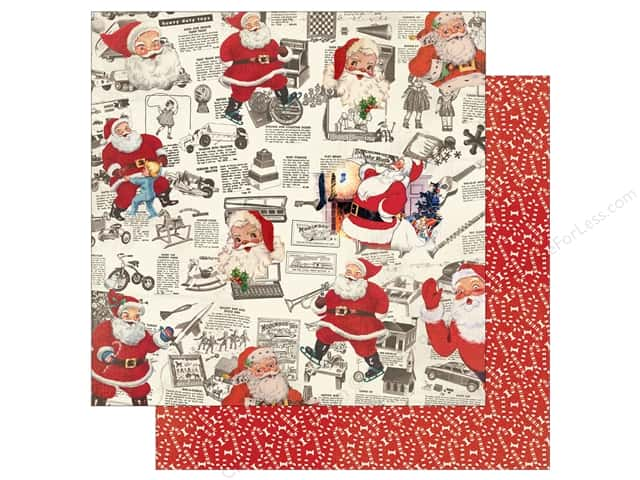 Authentique 12 x 12 in. Paper Retro Christmas Four (25 sheets)