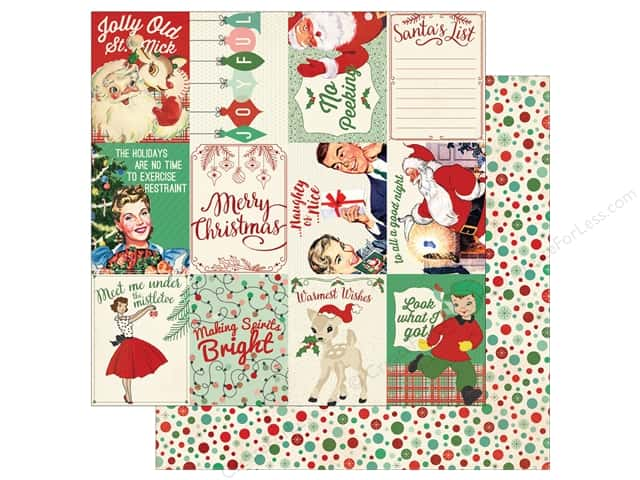 Authentique 12 x 12 in. Paper Retro Christmas Six (25 sheets)
