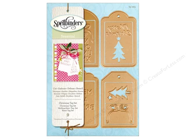 Spellbinders Die Shapeabilities Christmas Tag Set