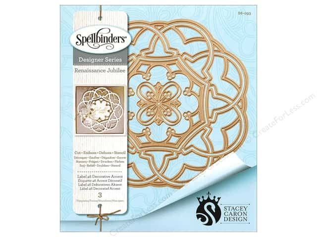 Spellbinders Die Nestabilities Label 46 Deco Accent