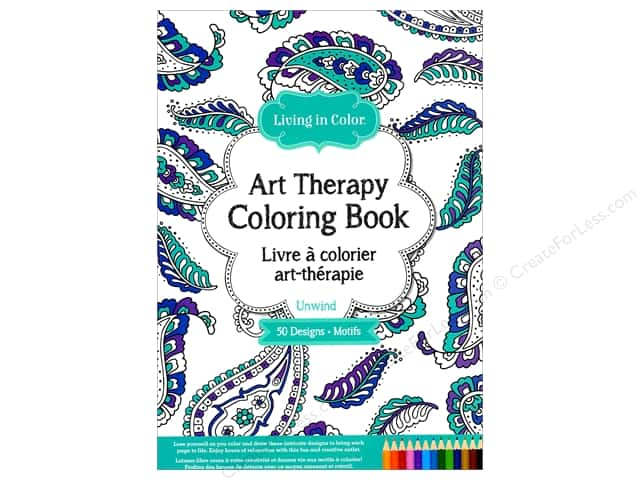 Multicraft Living In Color Art Therapy Unwind Coloring Book