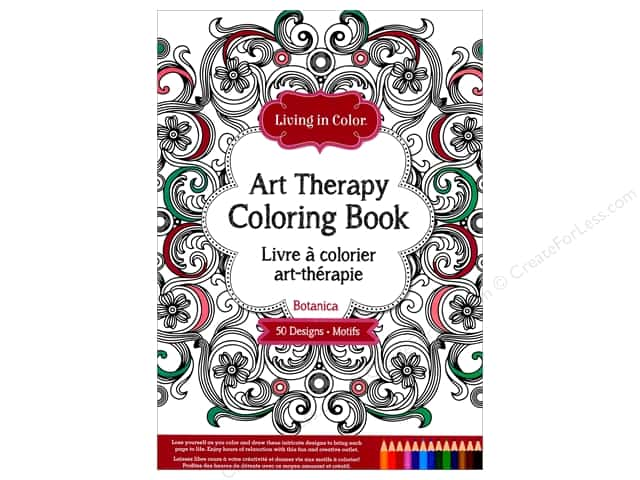 Multicraft Living In Color Art Therapy Botanica Coloring Book
