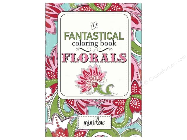 MiniLou Fantastical Florals Mini Coloring Book