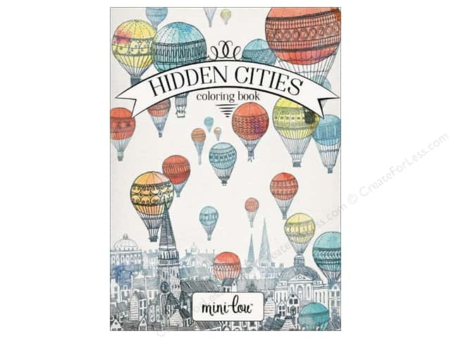 MiniLou Hidden Cities Mini Coloring Book