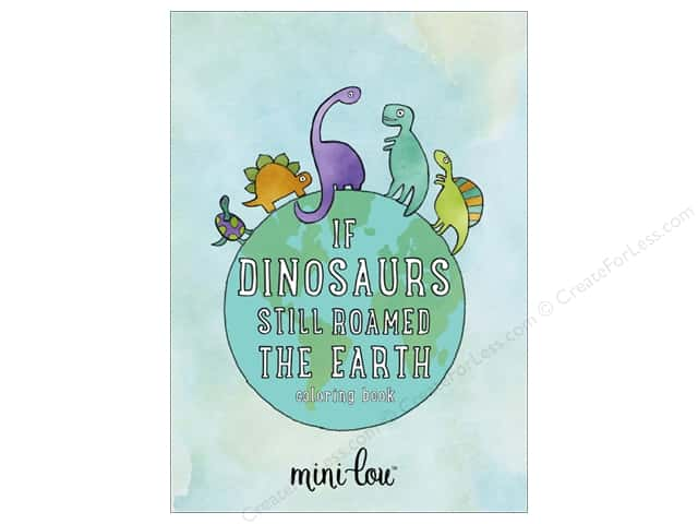 MiniLou If Dinosaurs Roamed Mini Coloring Book