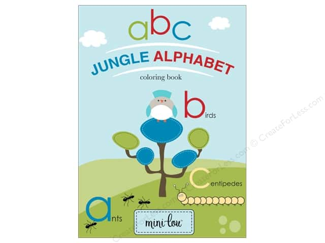 MiniLou Jungle Alphabet Mini Coloring Book