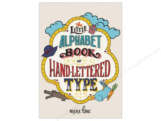 MiniLou The Little Alphabet Of Hand Lettered Type Mini Coloring Book