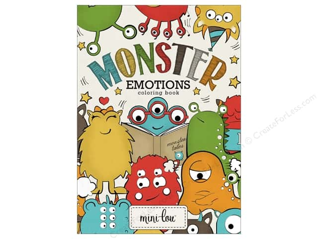 MiniLou Monster Emotions Mini Coloring Book