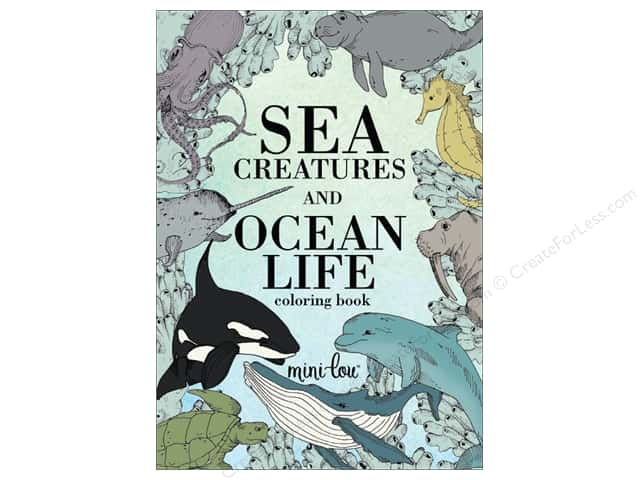 MiniLou Sea Creatures And Ocean Life Mini Coloring Book