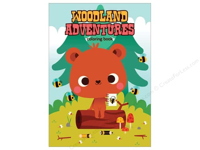 MiniLou Woodland Adventures Mini Coloring Book