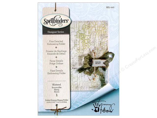 Spellbinders Embossing Folder Blistered