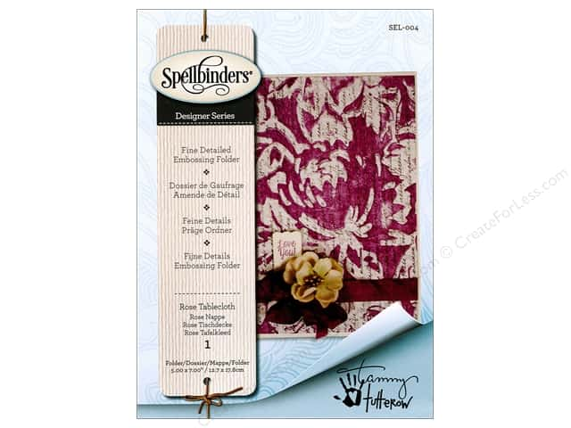 Spellbinders Embossing Folder Rose Tablecloth