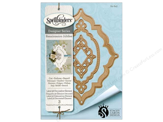 Spellbinders Die Nestabilities Label 56 Decorative Element