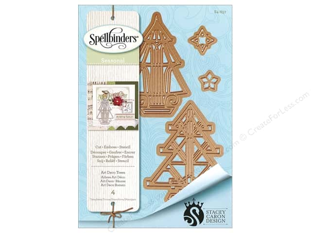 Spellbinders Die Shapeabilities Art Deco Trees