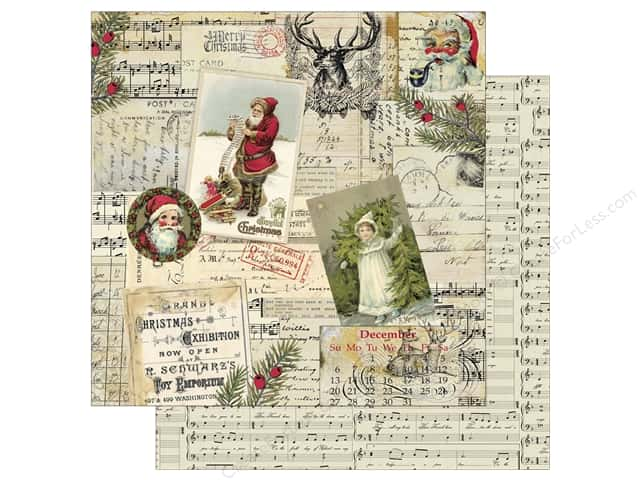 Authentique 12 x 12 in. Paper Classic Christmas Three (25 sheets)