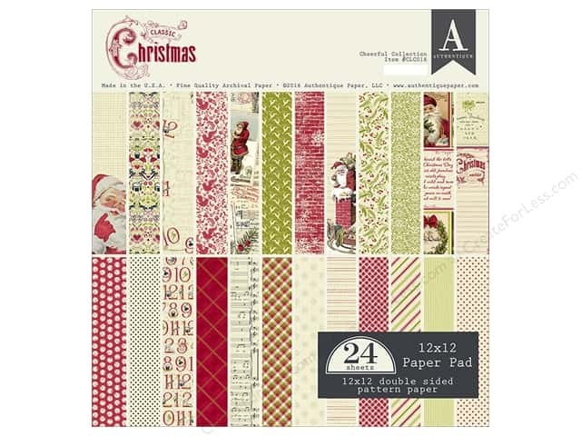 Authentique 12 x 12 in. Paper Pad Classic Christmas