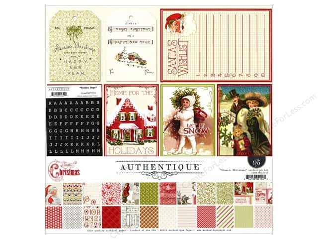 Authentique 12 x 12 in. Collection Kit Classic Christmas