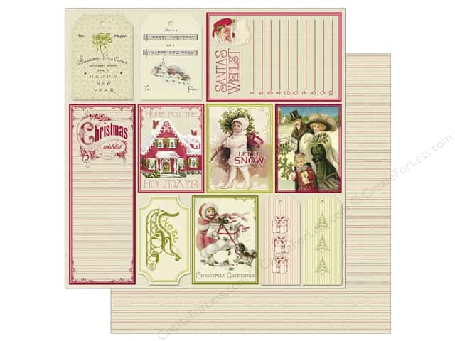 Authentique 12 x 12 in. Paper Classic Christmas Twelve (25 sheets)