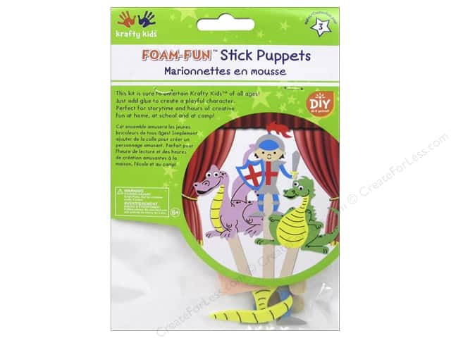 Multicraft Krafty Kids DIY Stick Foam Puppets Knight's Tale