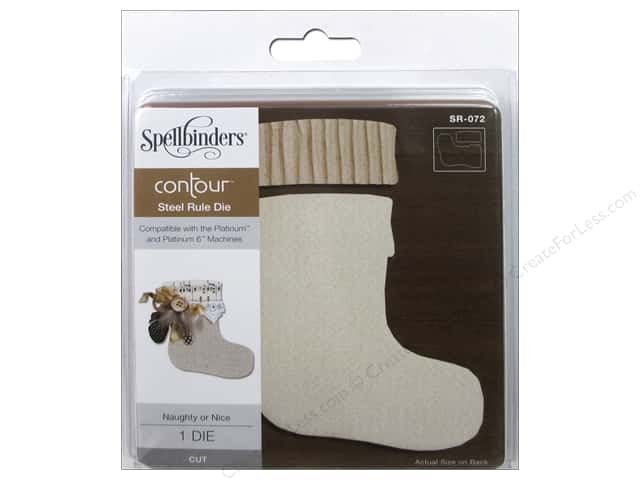 Spellbinders Die Contour Steel Rule Naughty Or Nice Stocking