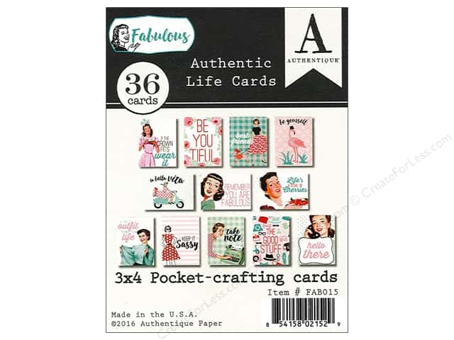 Authentique Authentic Life Cards Fabulous