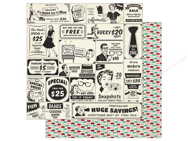 Authentique 12 x 12 in. Paper Fabulous Seven (25 sheets)