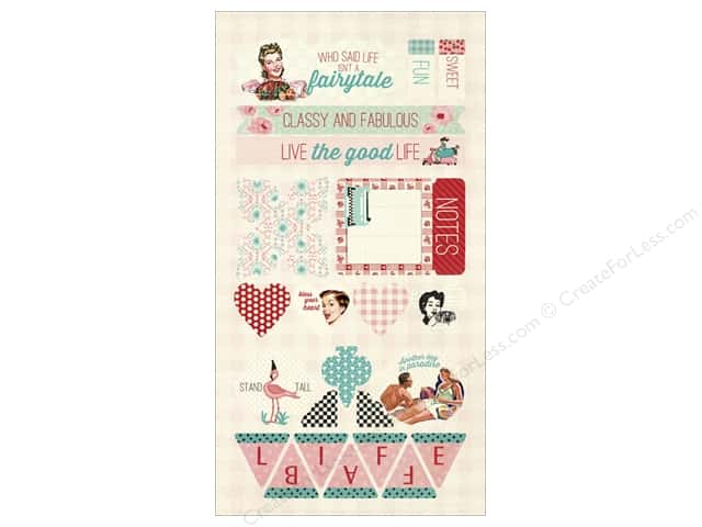 Authentique Die Cuts Fabulous Components (12 sets)
