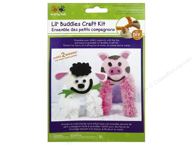 Multicraft Krafty Kids DIY Craft Kit Lil' Buddies Piggy/Lamb