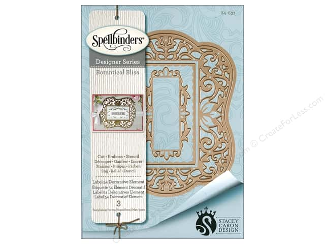 Spellbinders Die Nestabilities Label 54 Decorative Element