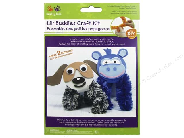 Multicraft Krafty Kids DIY Craft Kit Lil' Buddies Monkey/Dog