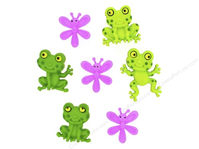 Jesse James Dress It Up Embellishments Happy Frogs