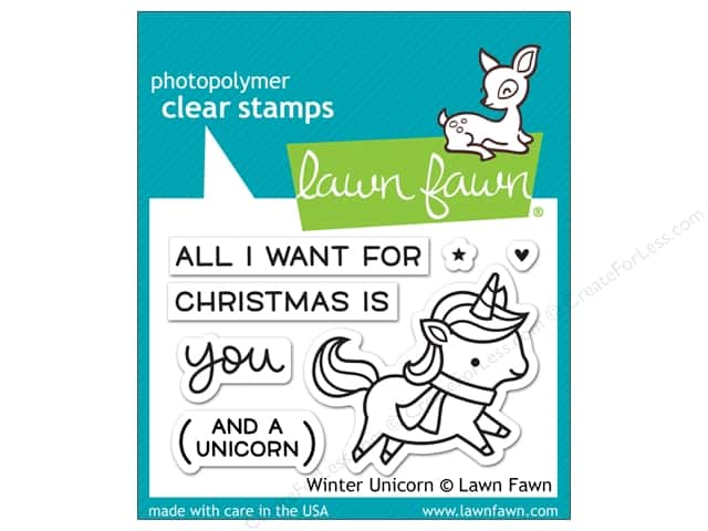 Lawn Fawn Clear Stamp Winter Unicorn